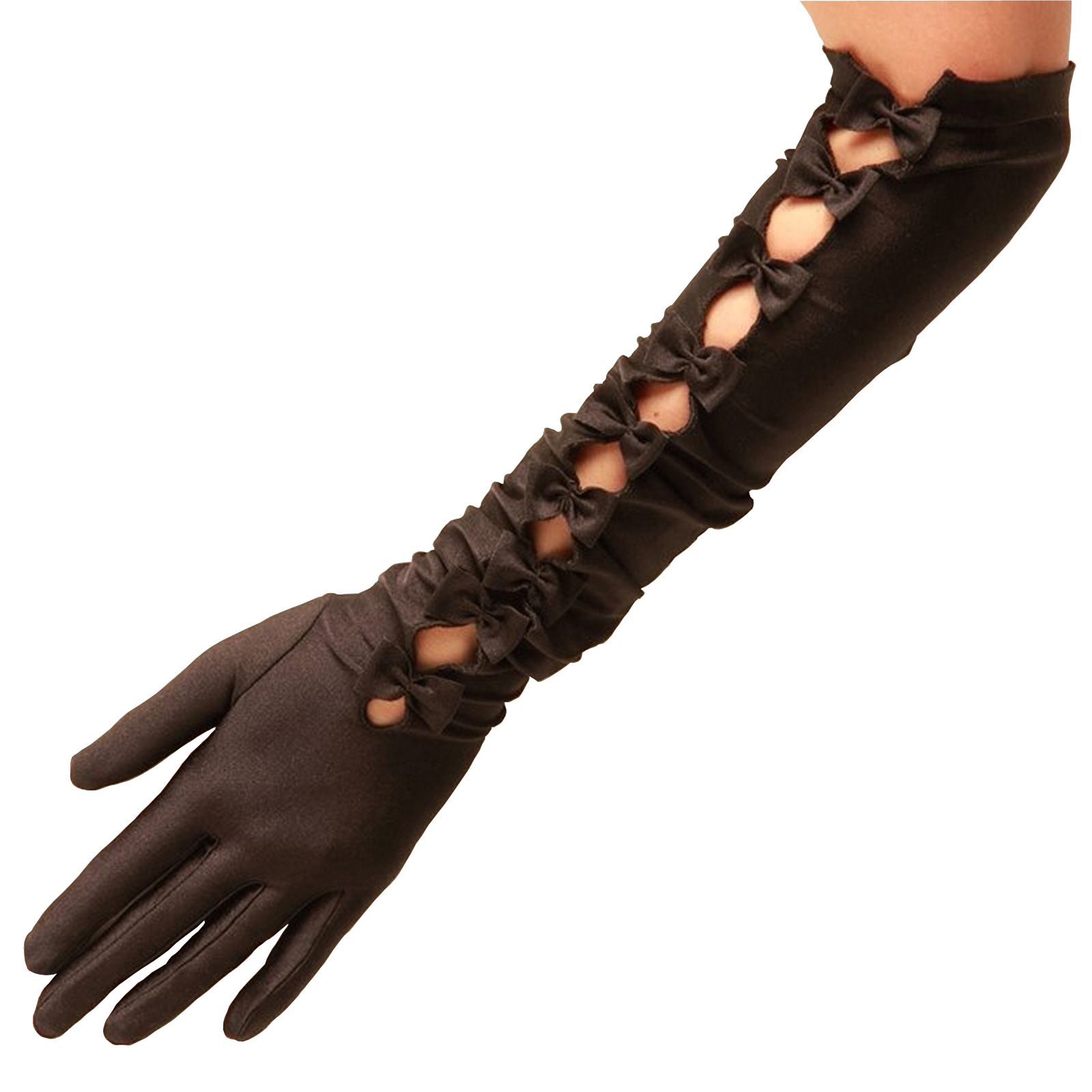 Cleopatra Satin Gloves by Cornelia James