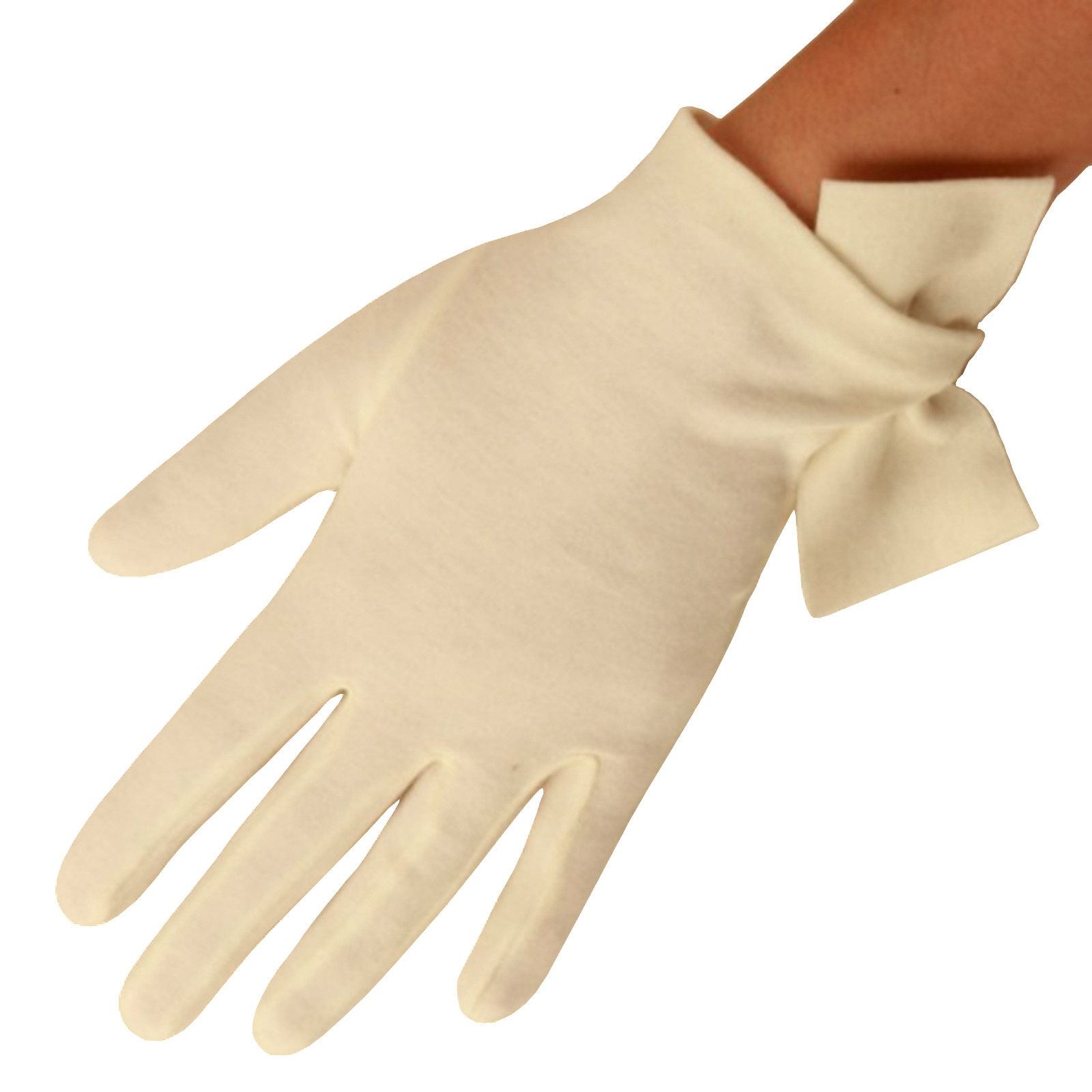 Cornelia James - Rose Cotton Gloves with Side Bow