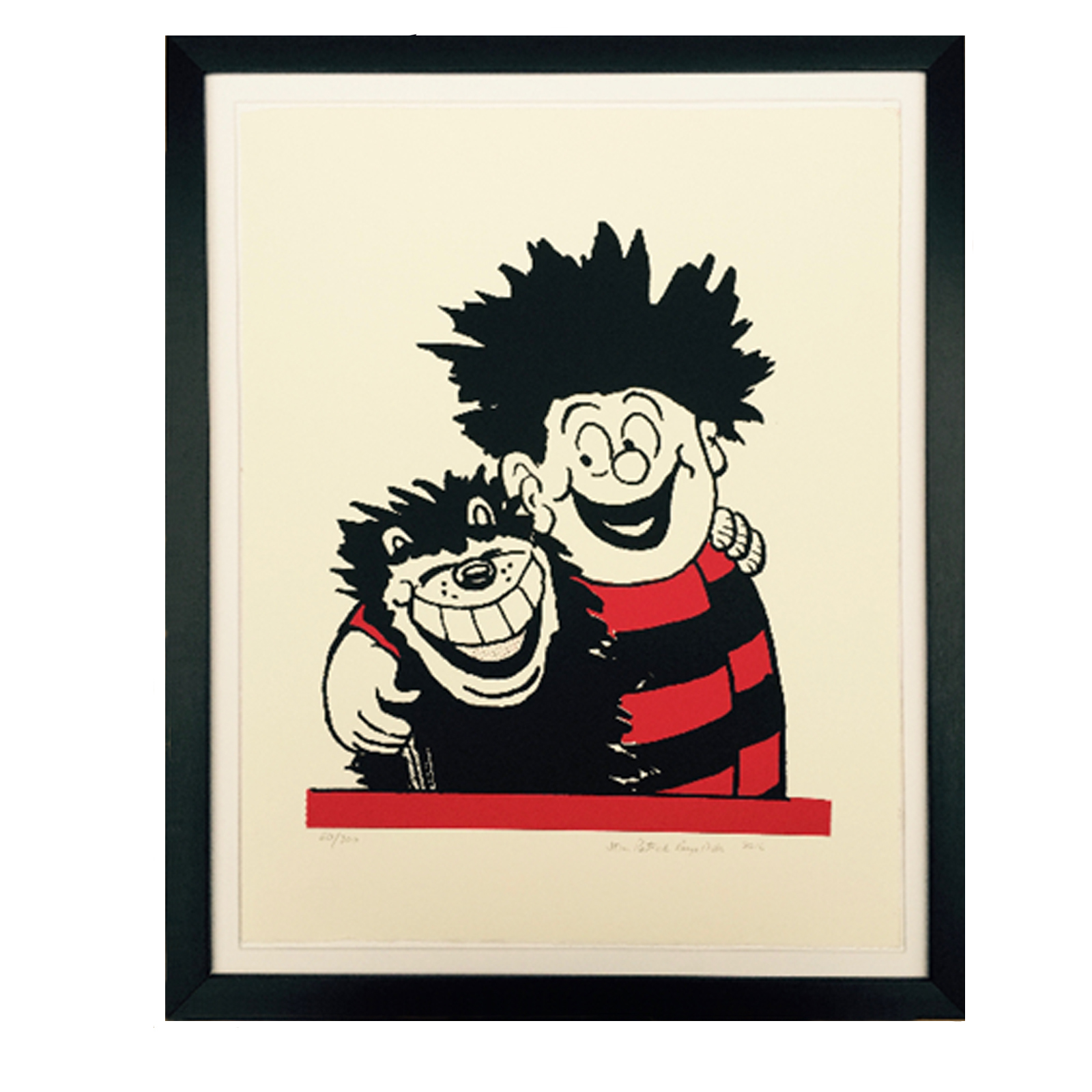 Dennis The Menace and Gnasher Hug - Limited Edition Screen Print
