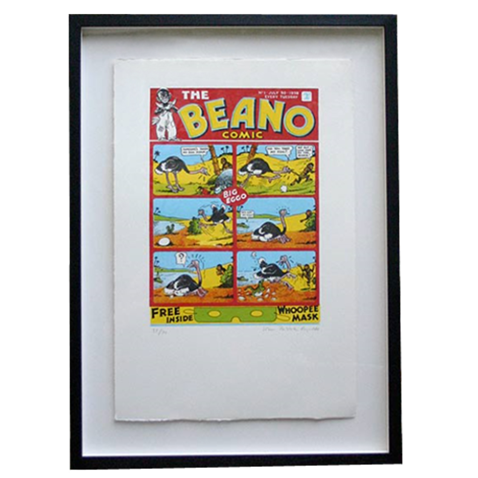 The Beano 1st Front Page - Limited Edition Screen Print