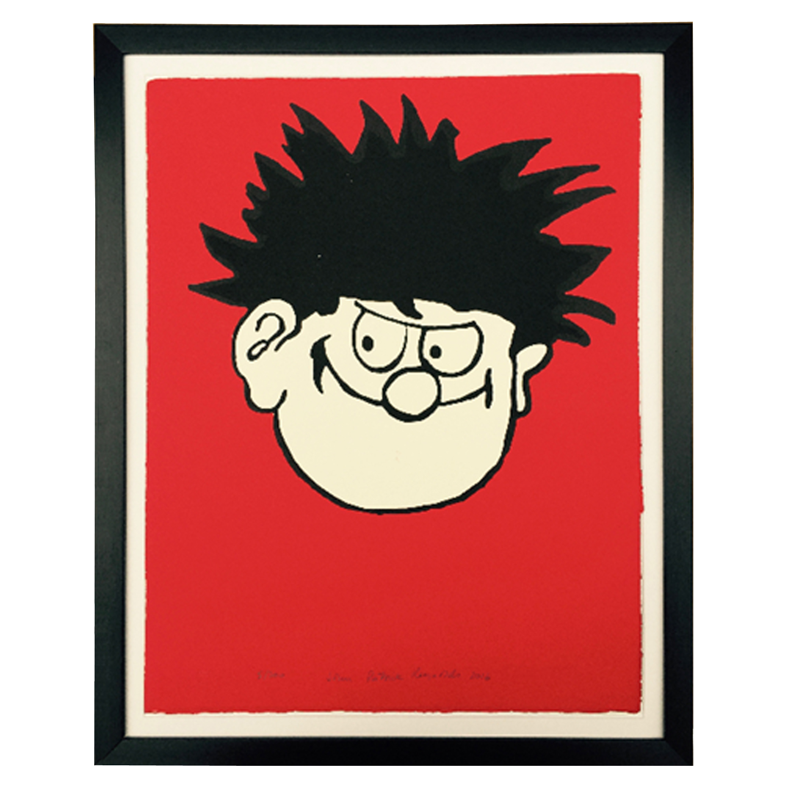 Dennis the Menace on Red - Limited Edition Screen Print