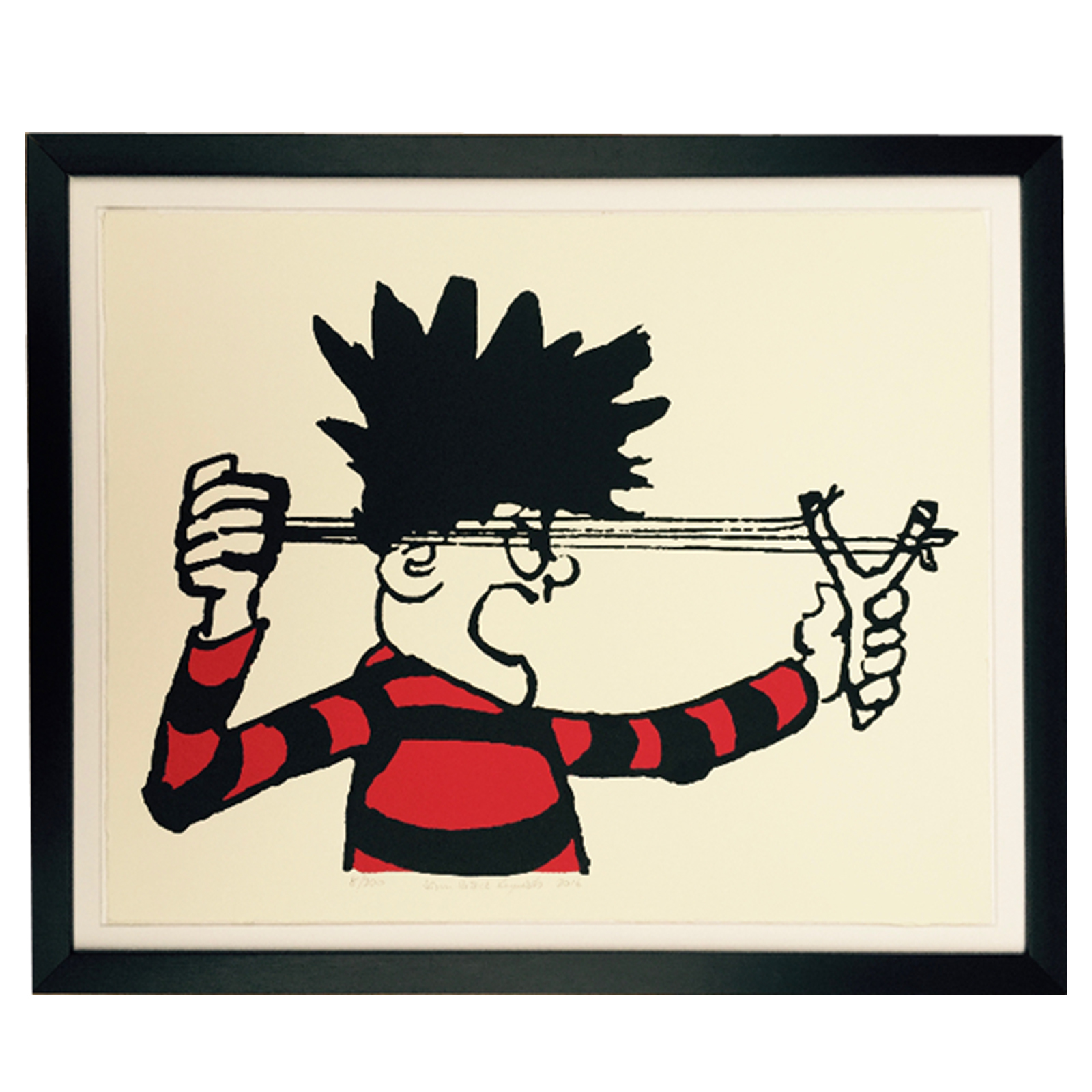 Dennis The Menace and His Catapult - Limited Edition Screen Print