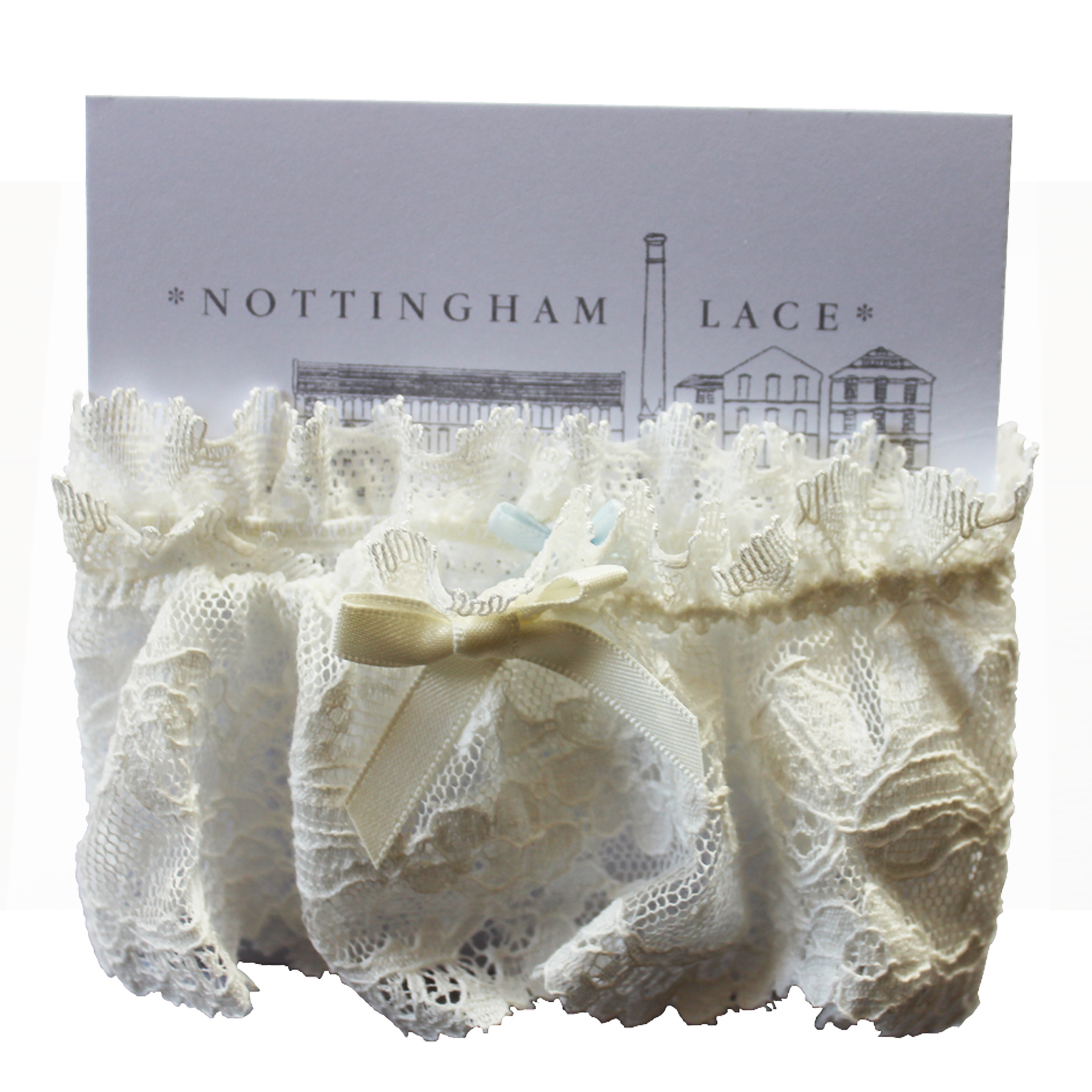 English Trousseau Nottingham Lace Wedding Garter 5 cm