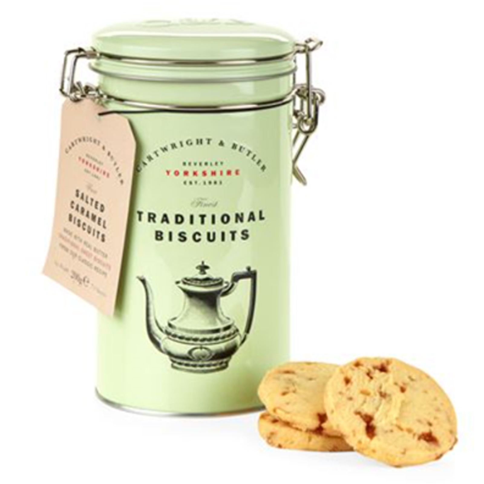 Salted Caramel Biscuits in a Tin by Cartwright & Butler
