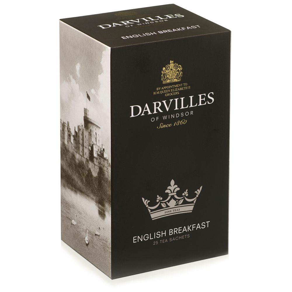 Darvilles of Windsor  English Breakfast  25 Tagged Sachet Box 50gm