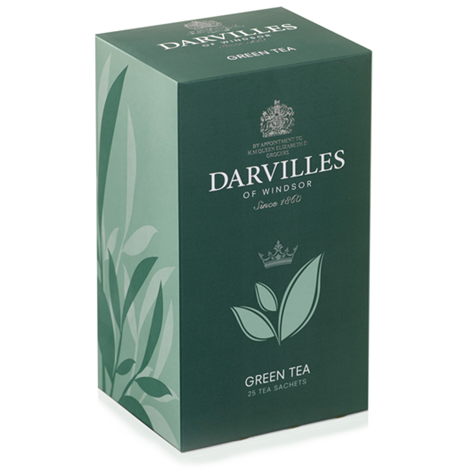 Darvilles of Windsor  Green Tea  25 Sachet Box 50gm
