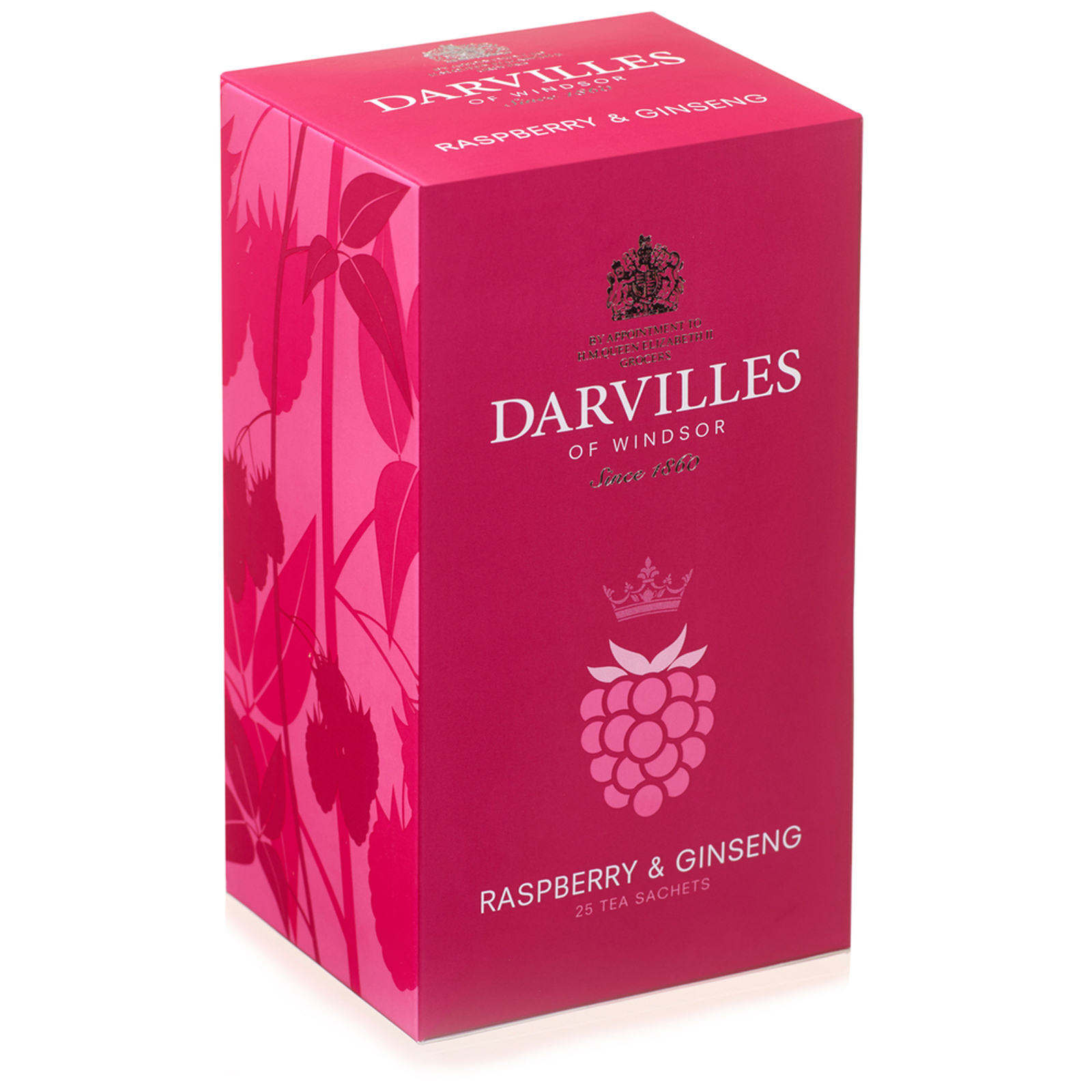 Darvilles of Windsor  Raspberry and Ginseng   25 Sachet Box 50gm