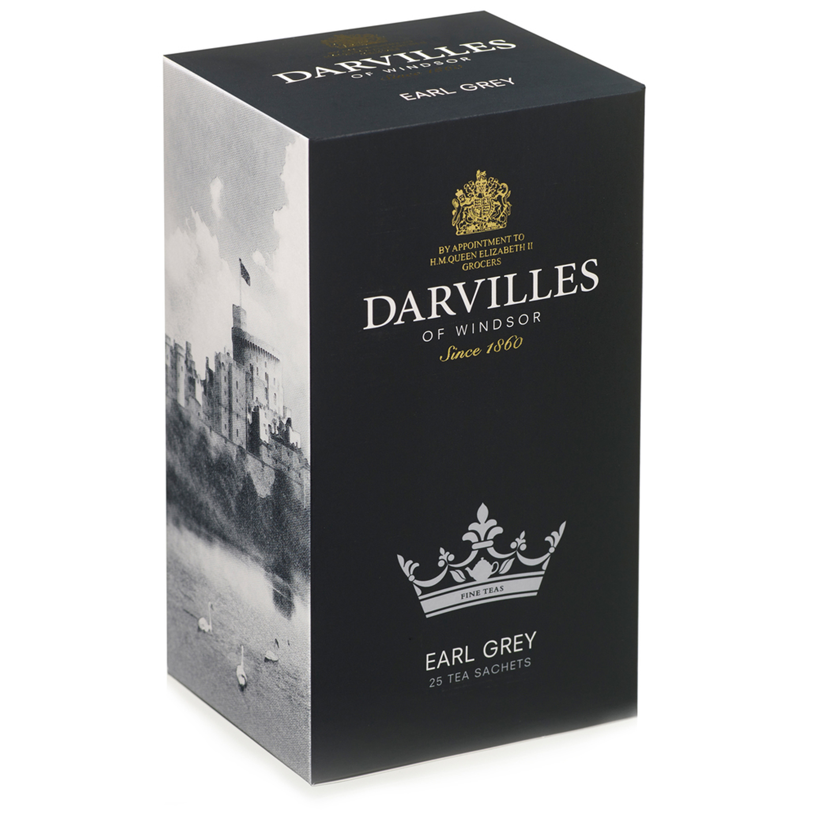 Darvilles of Windsor Earl Grey 25 Tagged Sachet Box 50gm
