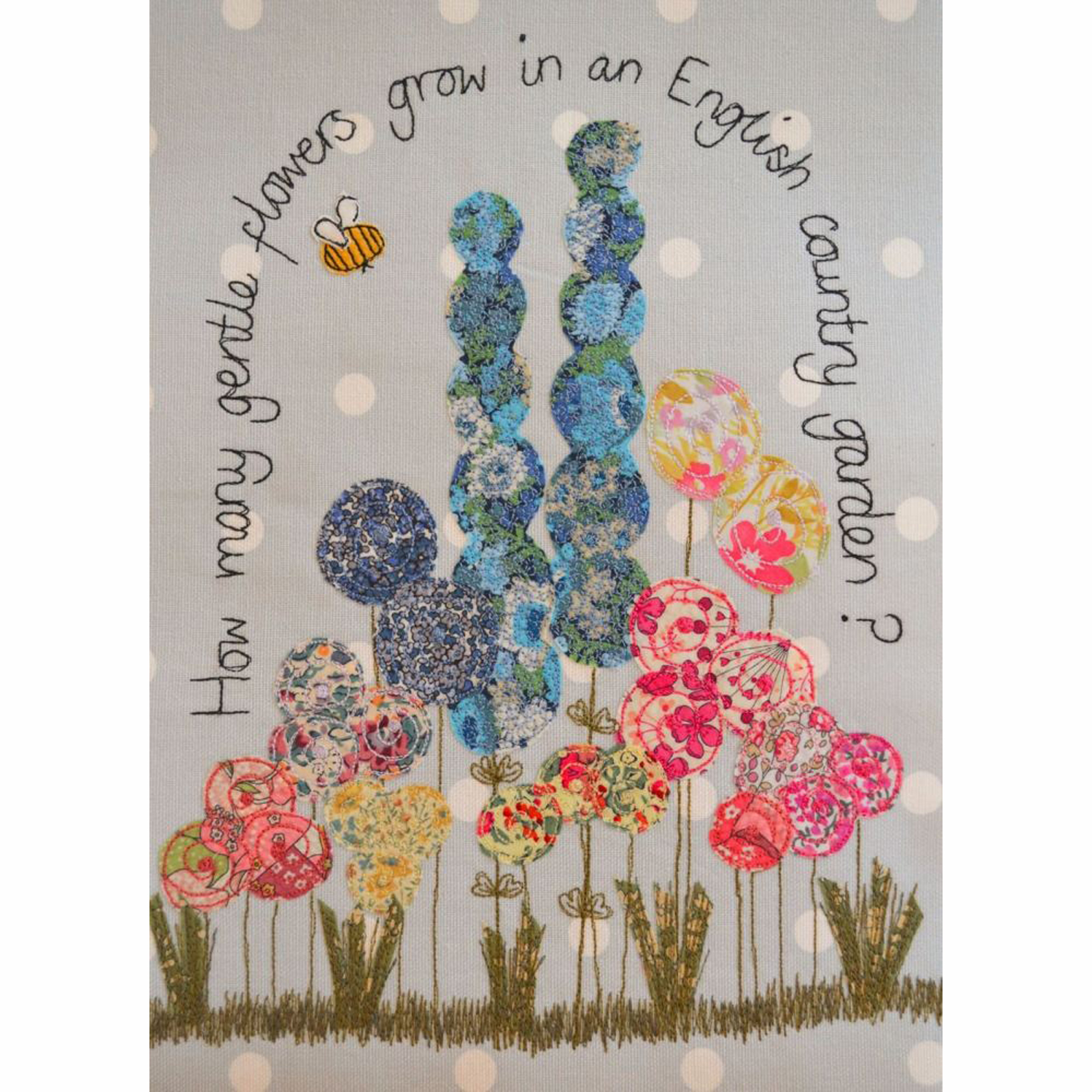 English Country Garden Tea Towel by Dangly Hearts