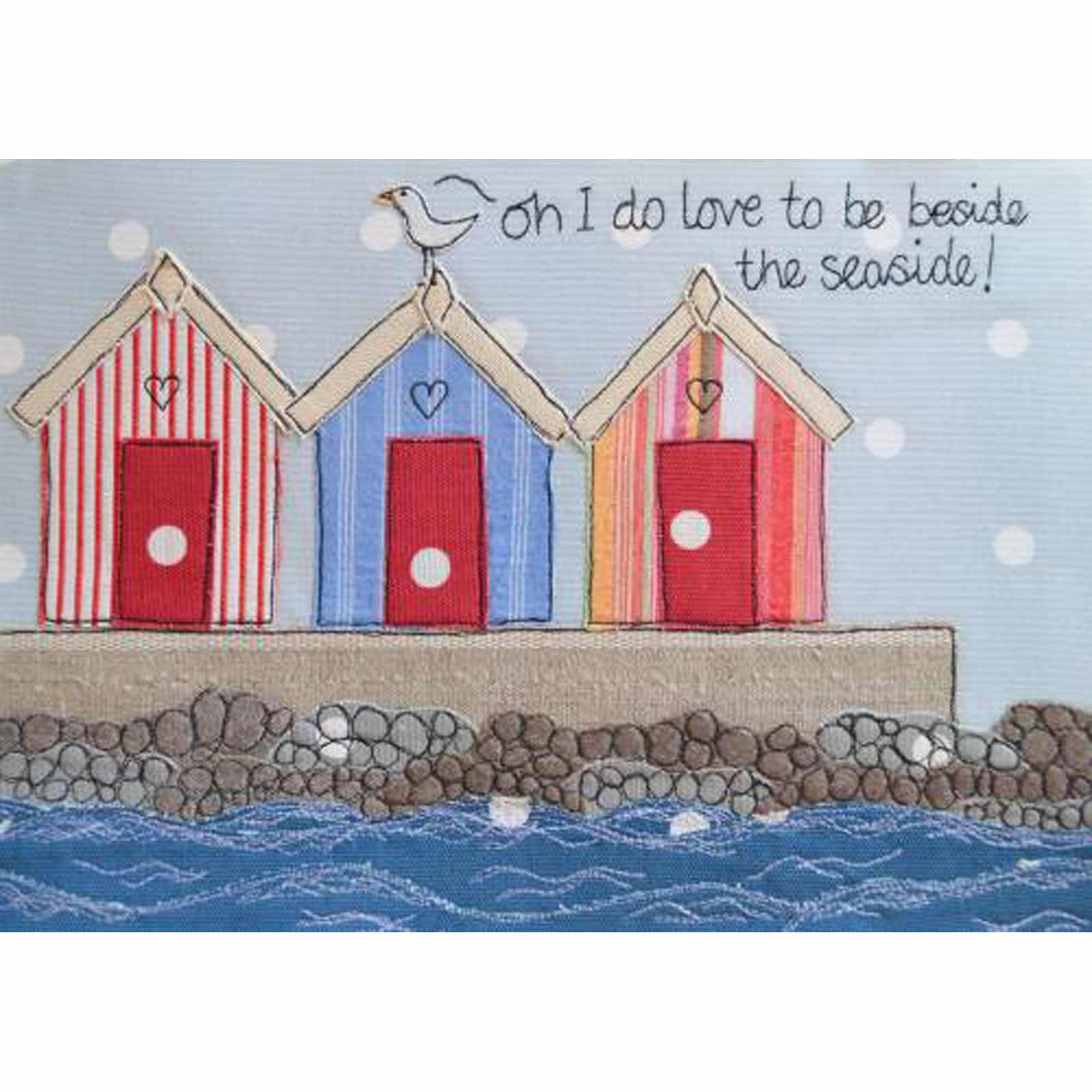 By The Sea Side Tea Towel by Dangly Hearts