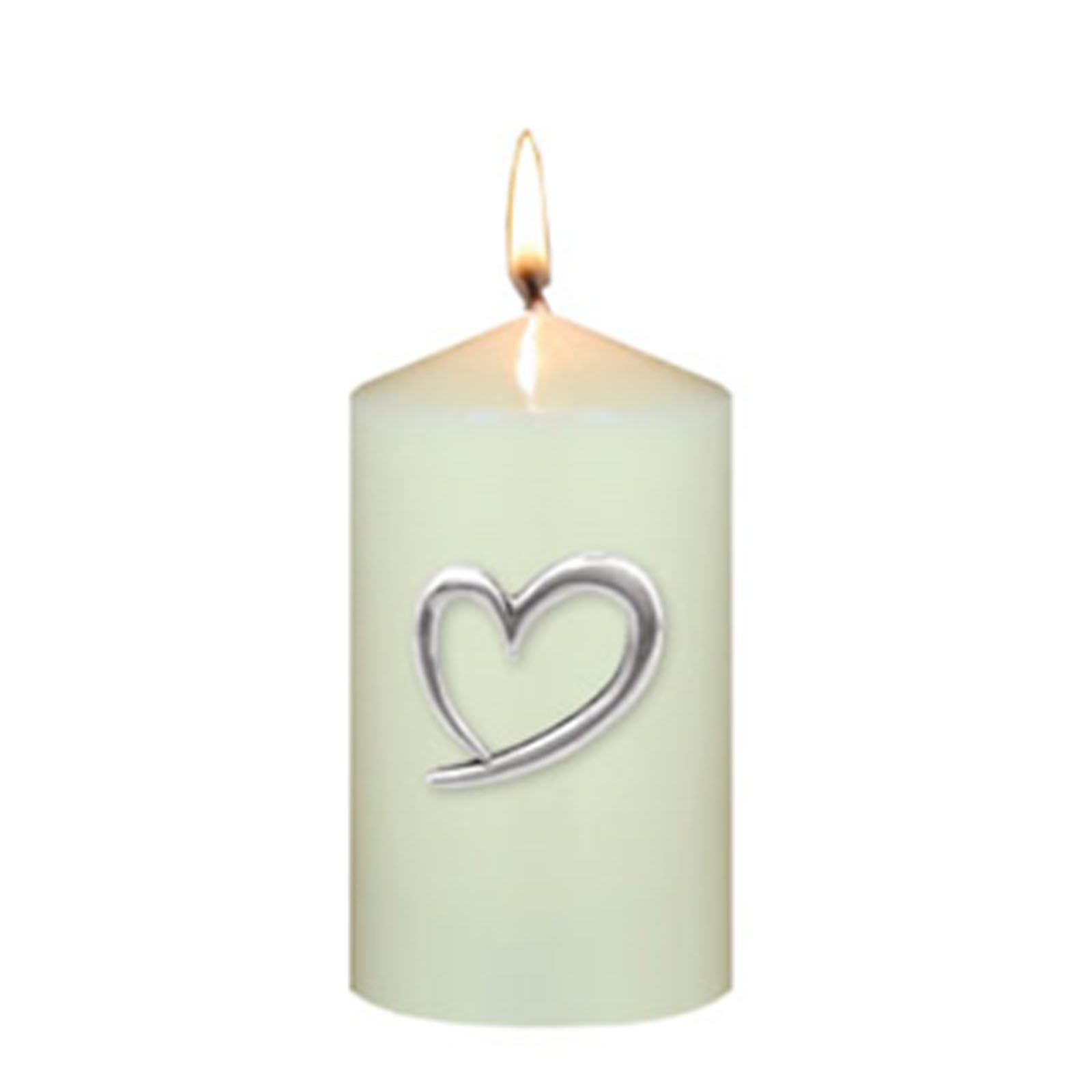 Heart Candle Pins by The English Pewter Company