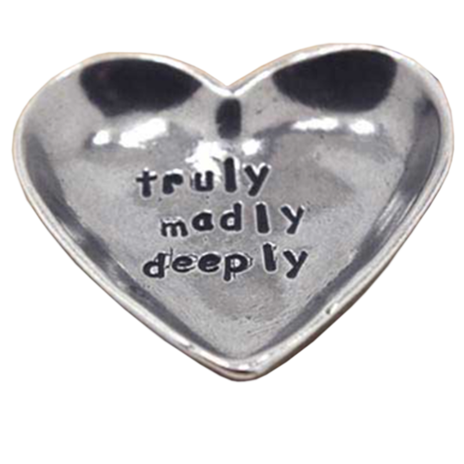 Truly Deeply Madly Sentiment Heart Token by The English Pewter Company