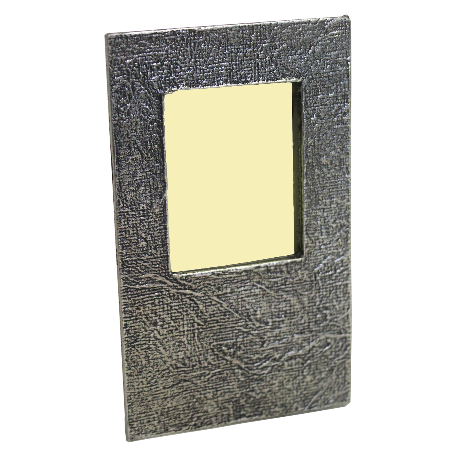 English Pewter Textured Travel Size Photo Frame