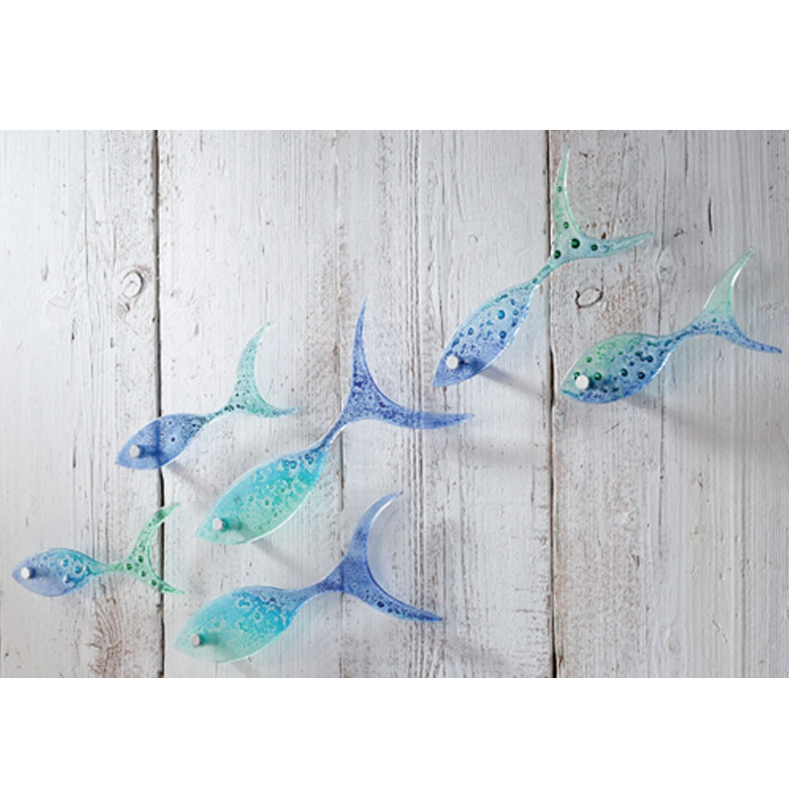 Mini Glass Shoal of Fish by Jo Downs