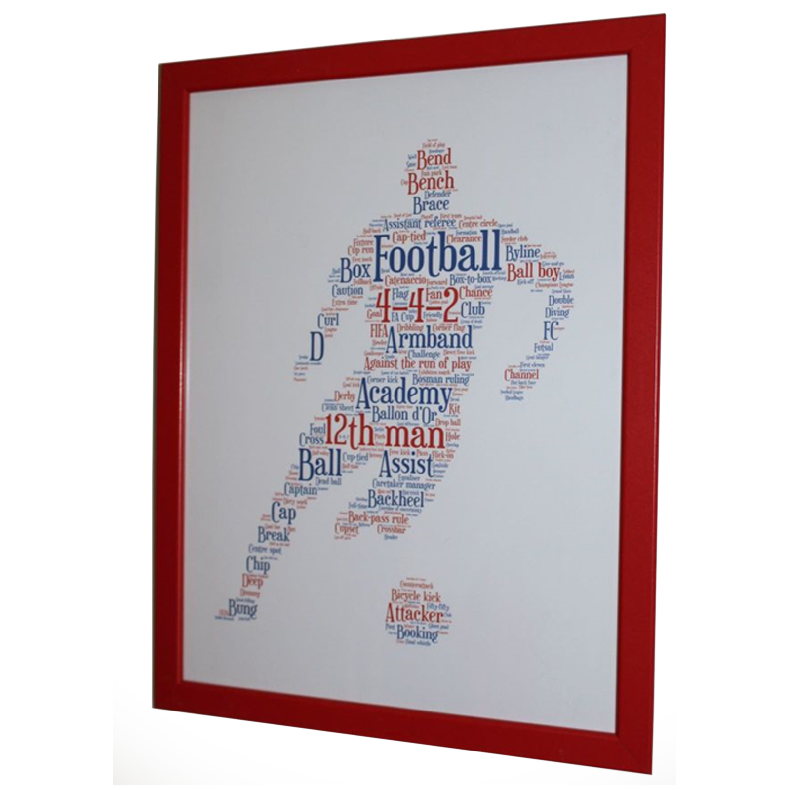 Framed Football Player Silhouette Picture