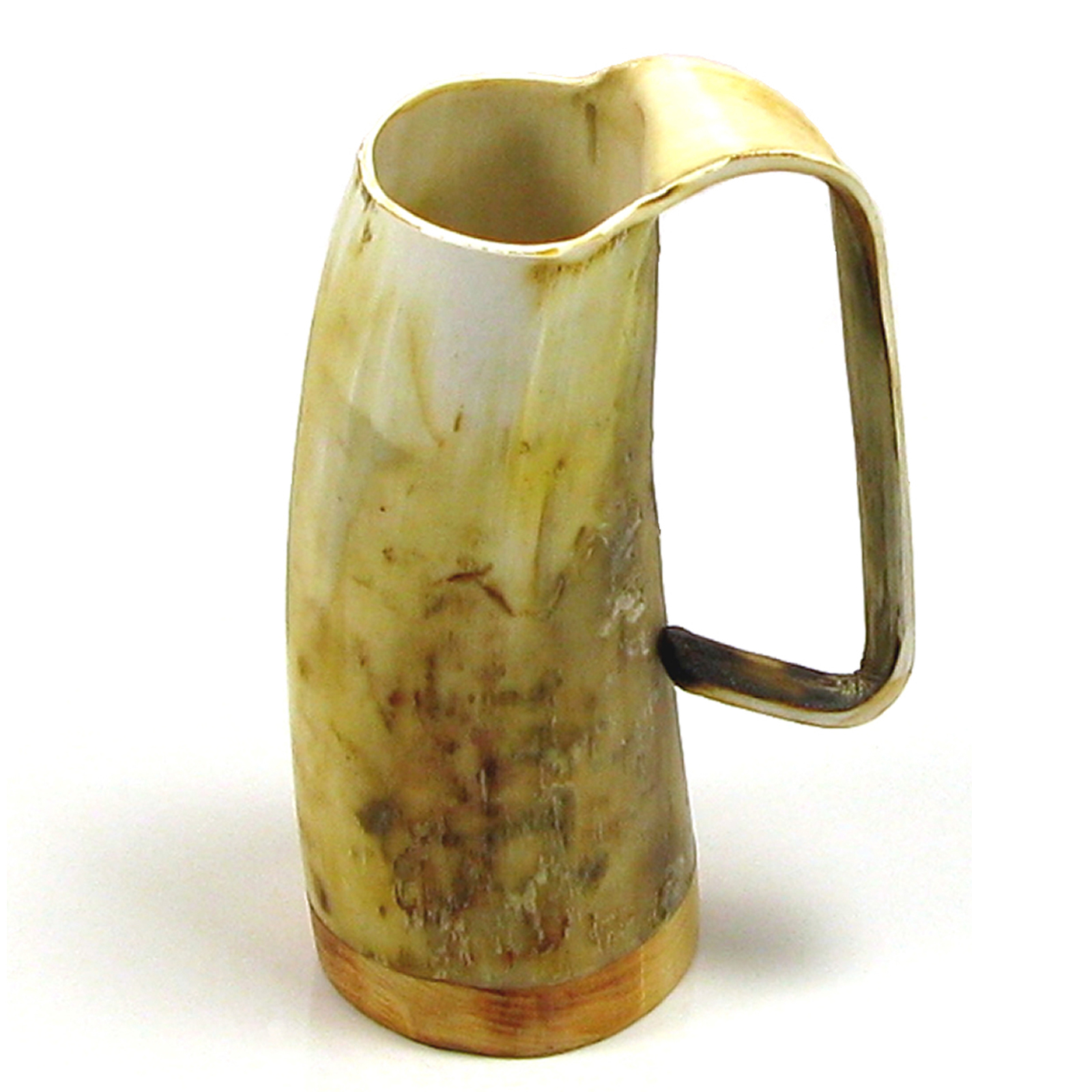 Game of Thrones Soldiers Mead Mug or Tankard  - Unpolished Ox Horn Approx 3/4 pint