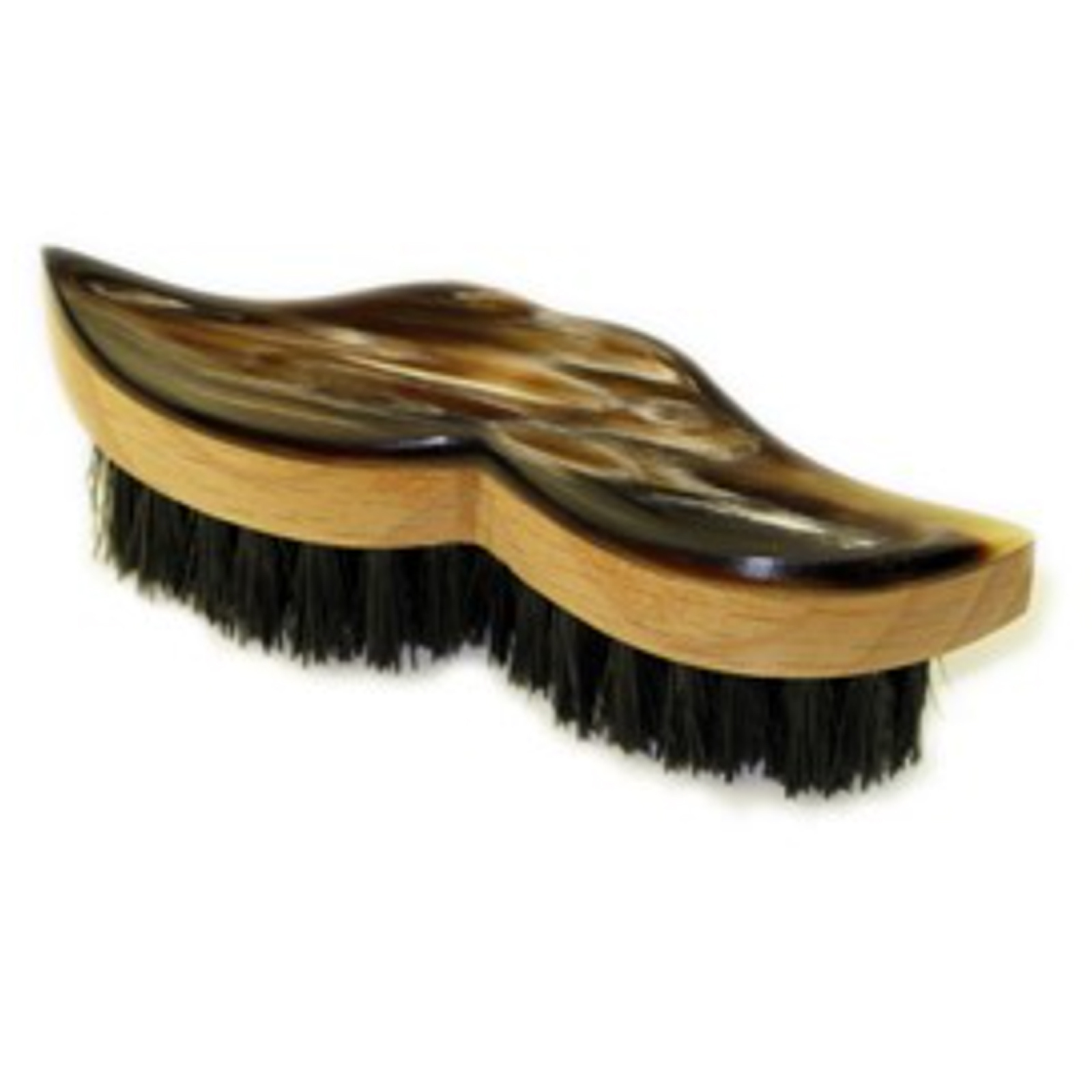 Ox Horn Backed Beechwood Moustache Brush by Abbeyhorn