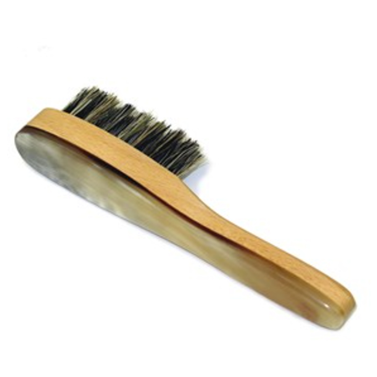 Polished Ox Horn Backed Hardwood Beard Brush by Abbeyhorn