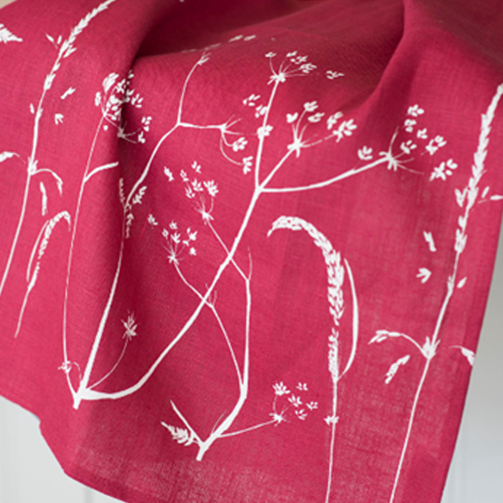 Pure Linen Tea Towel Hedgerow Collection by Helen Round