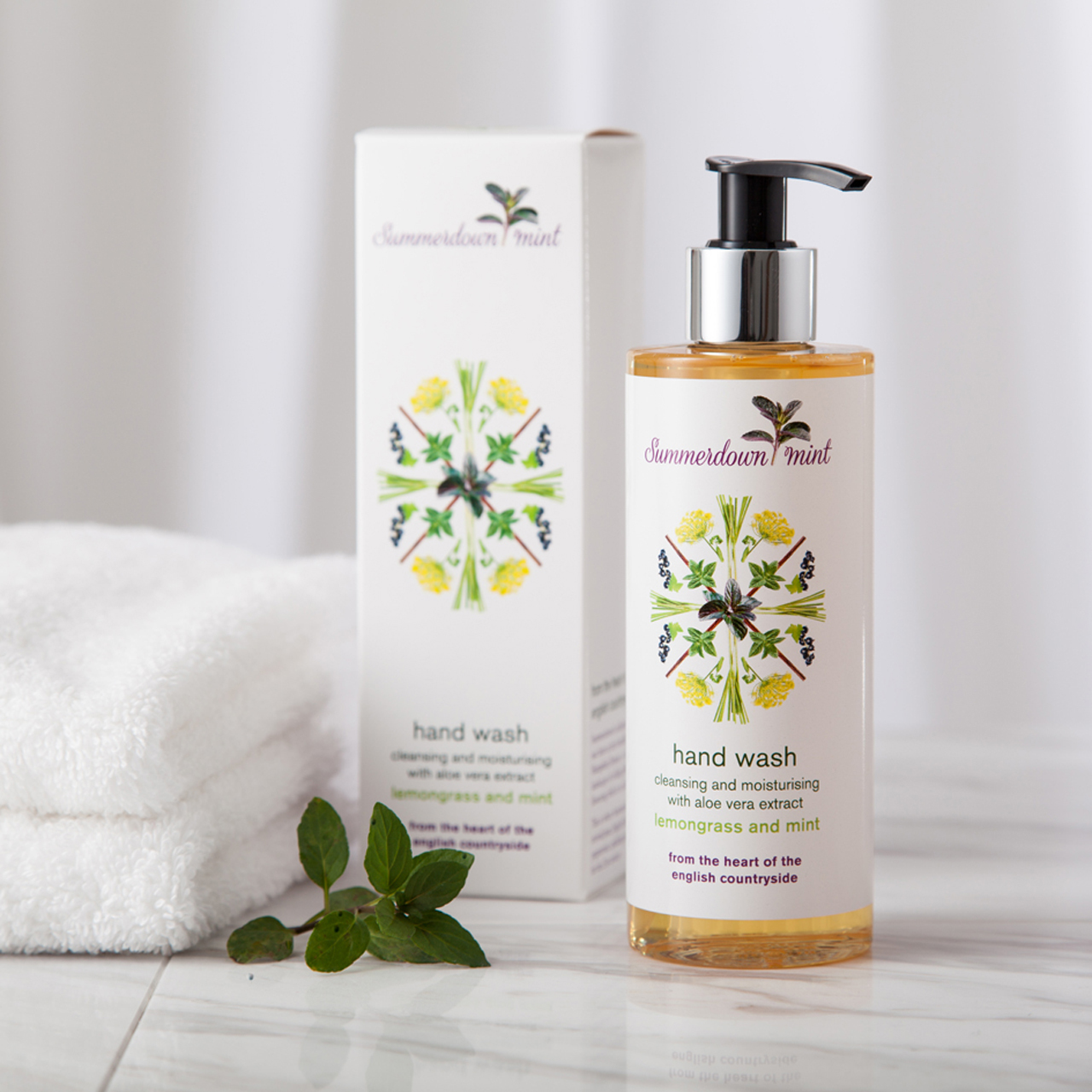 Luxury Hand Wash - Lemongrass & Mint by Summerdown Mint