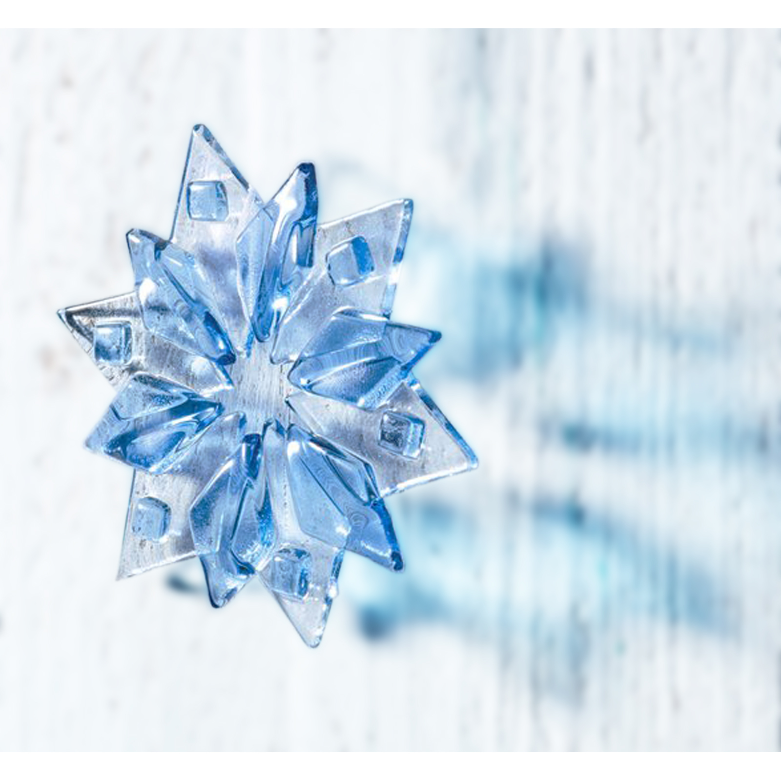 Pastel Blue Star Flake Christmas Decoration by Jo Downs