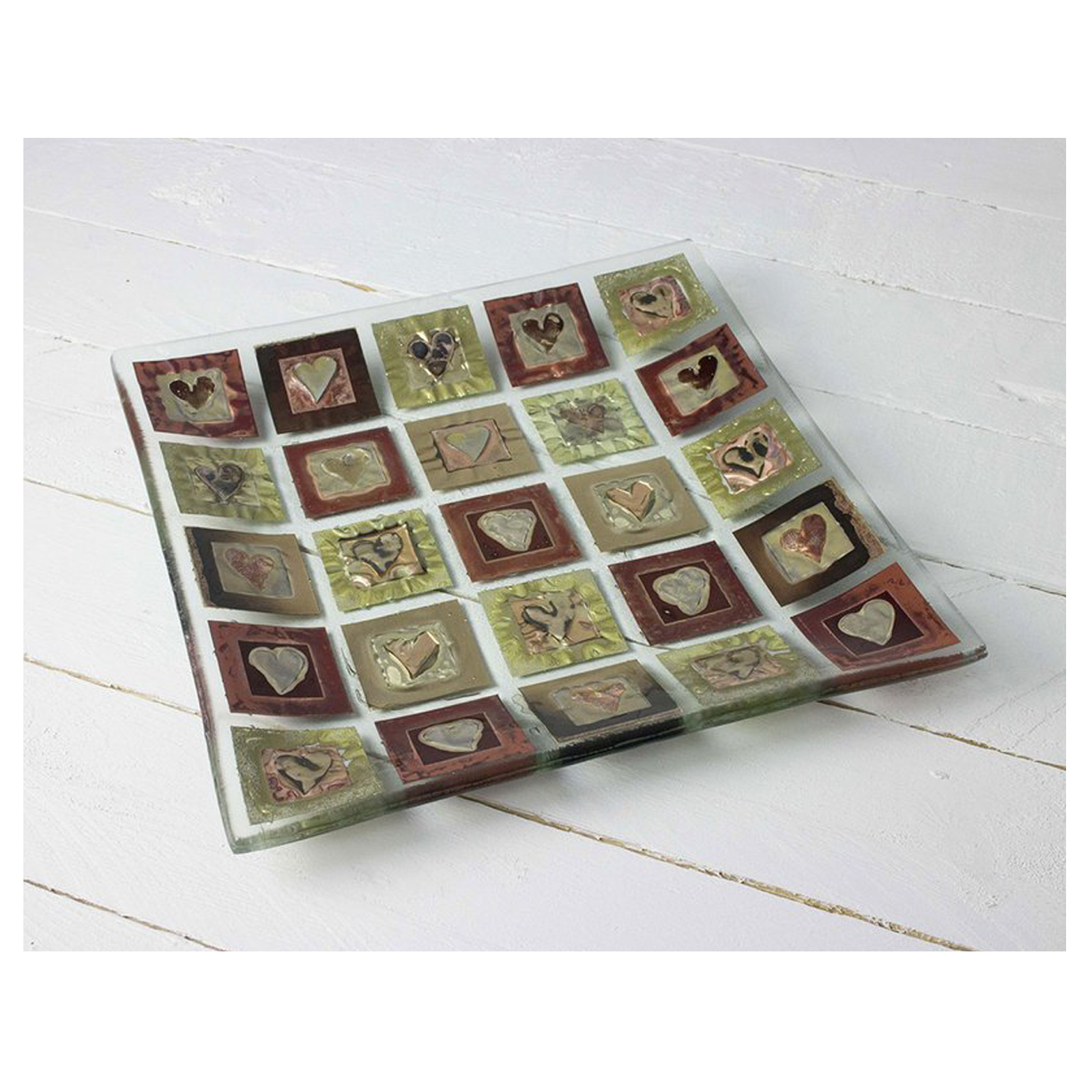 Morwenna Heart Large Square Bowl by Jo Downs