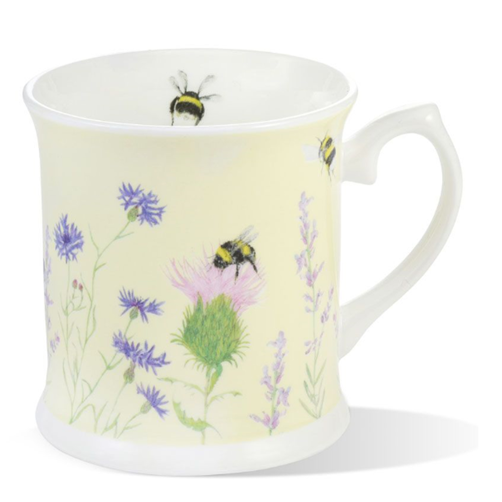 Bumble Bee and Flower Yellow Fine Bone China  Mug by Mosney Mill