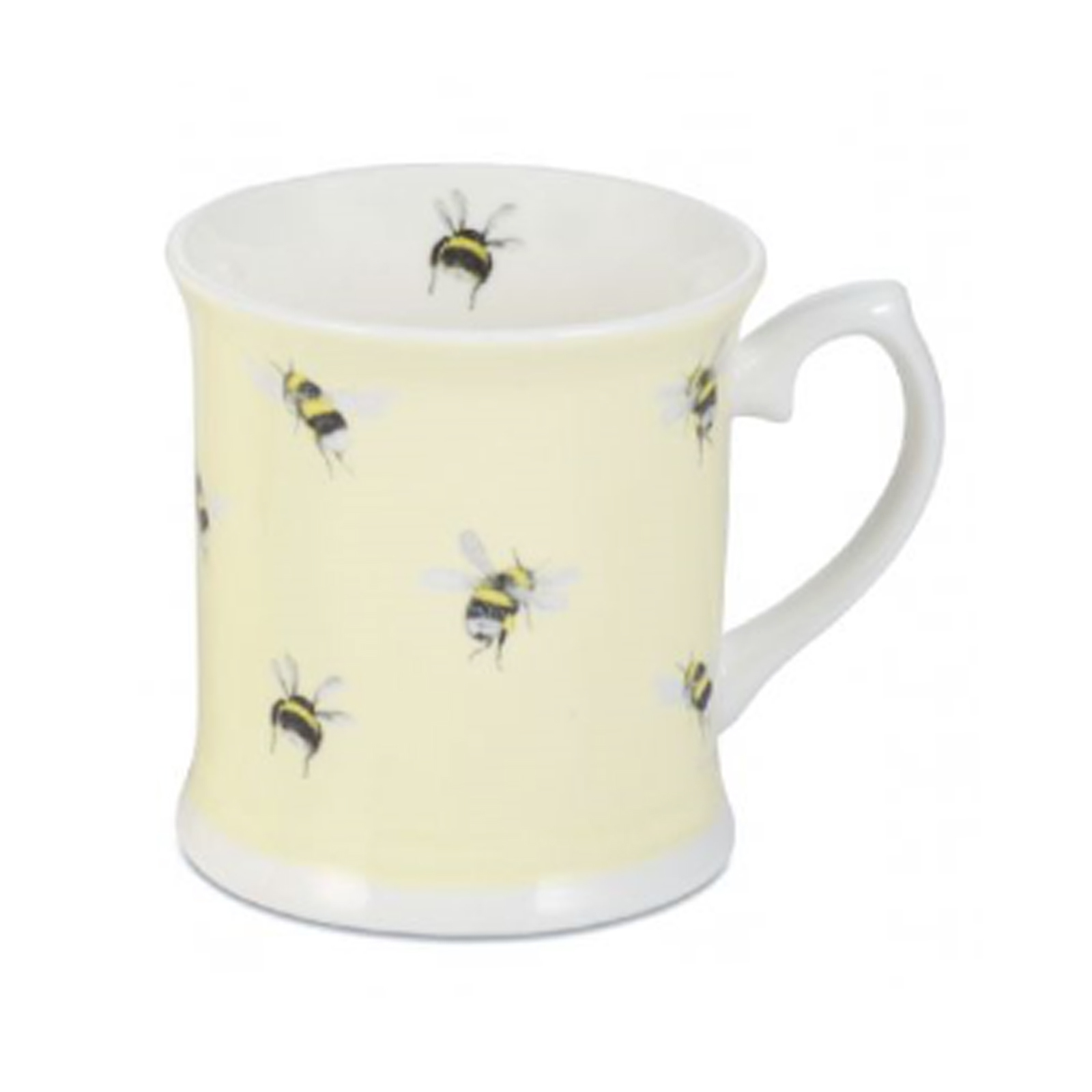 Bumble Bee on Yellow Bone China Mug by Mosney Mill