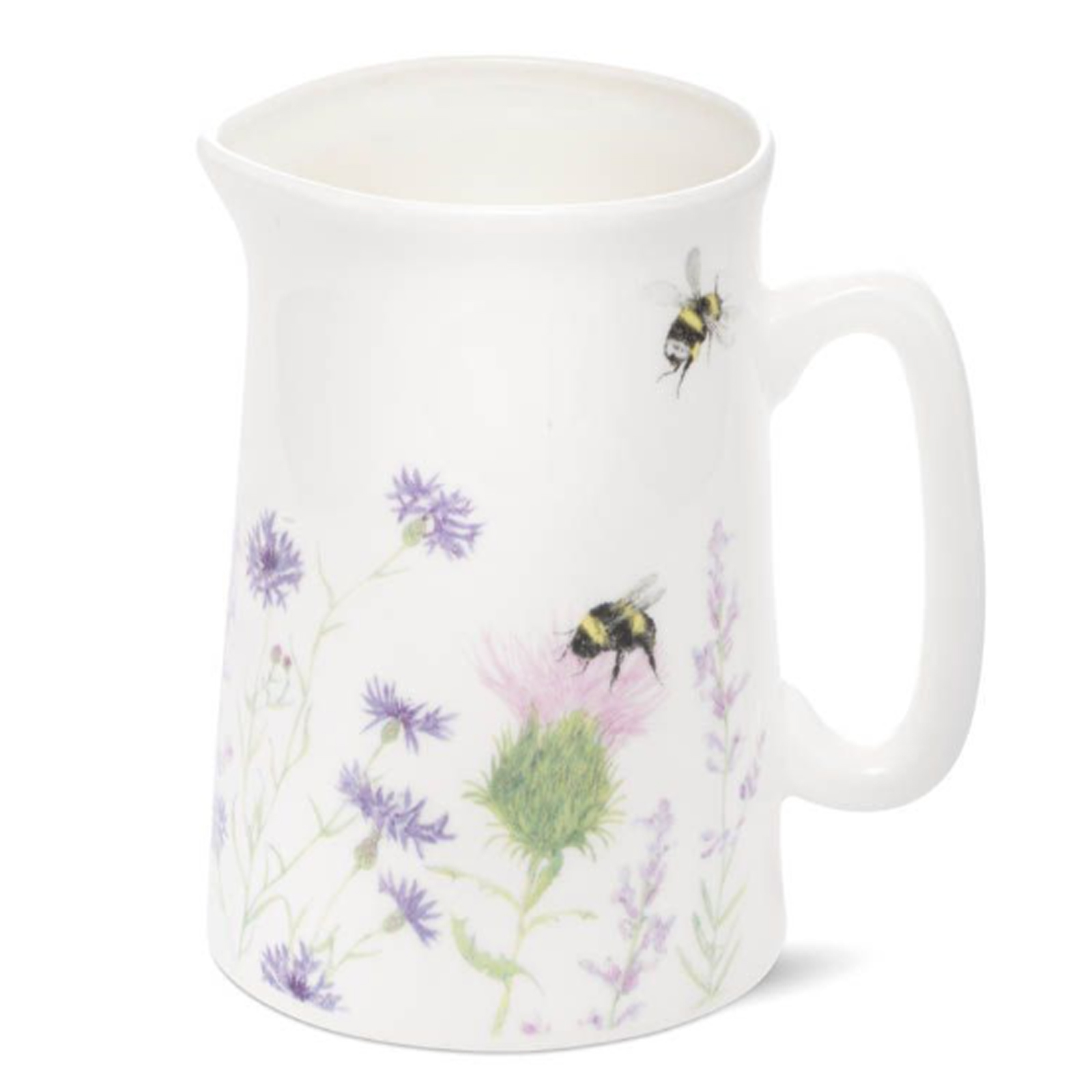 Bumble Bee and Flower Bone China Jug - Medium by Mosney Mill