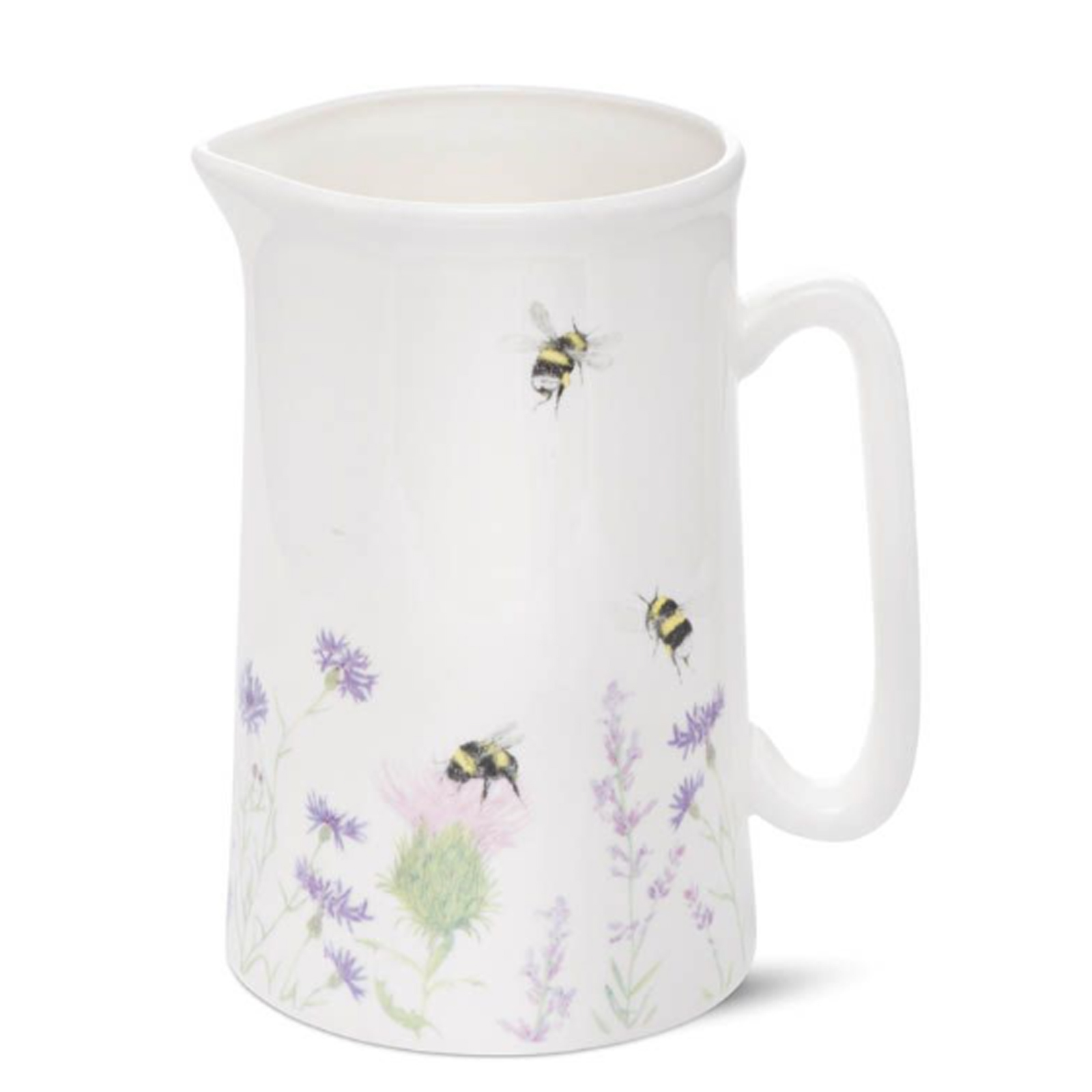 Bumble Bee and Flower Bone China Jug - Small by Mosney Mill