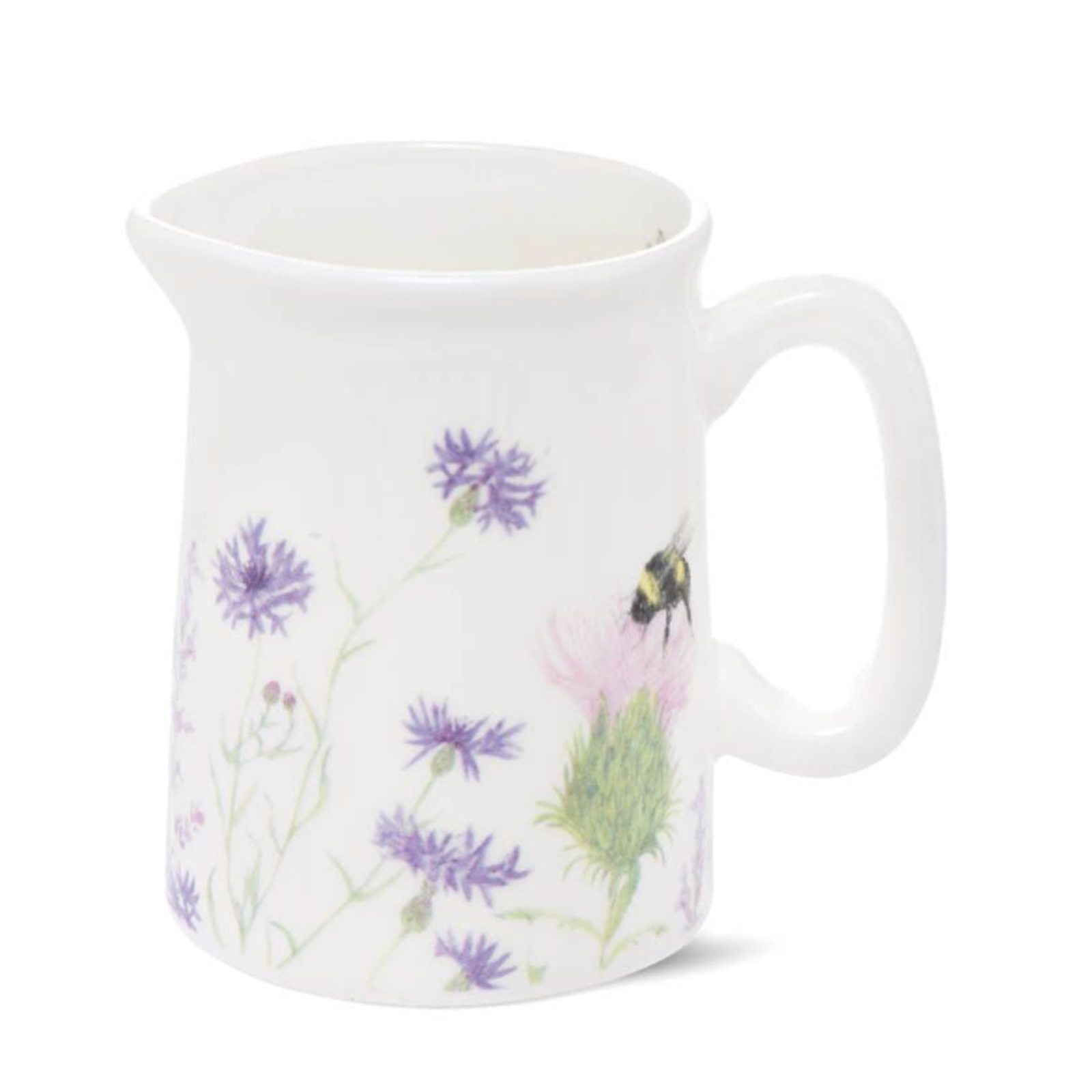 Bumble Bee and Flower Bone China Jug - Mini by Mosney Mill