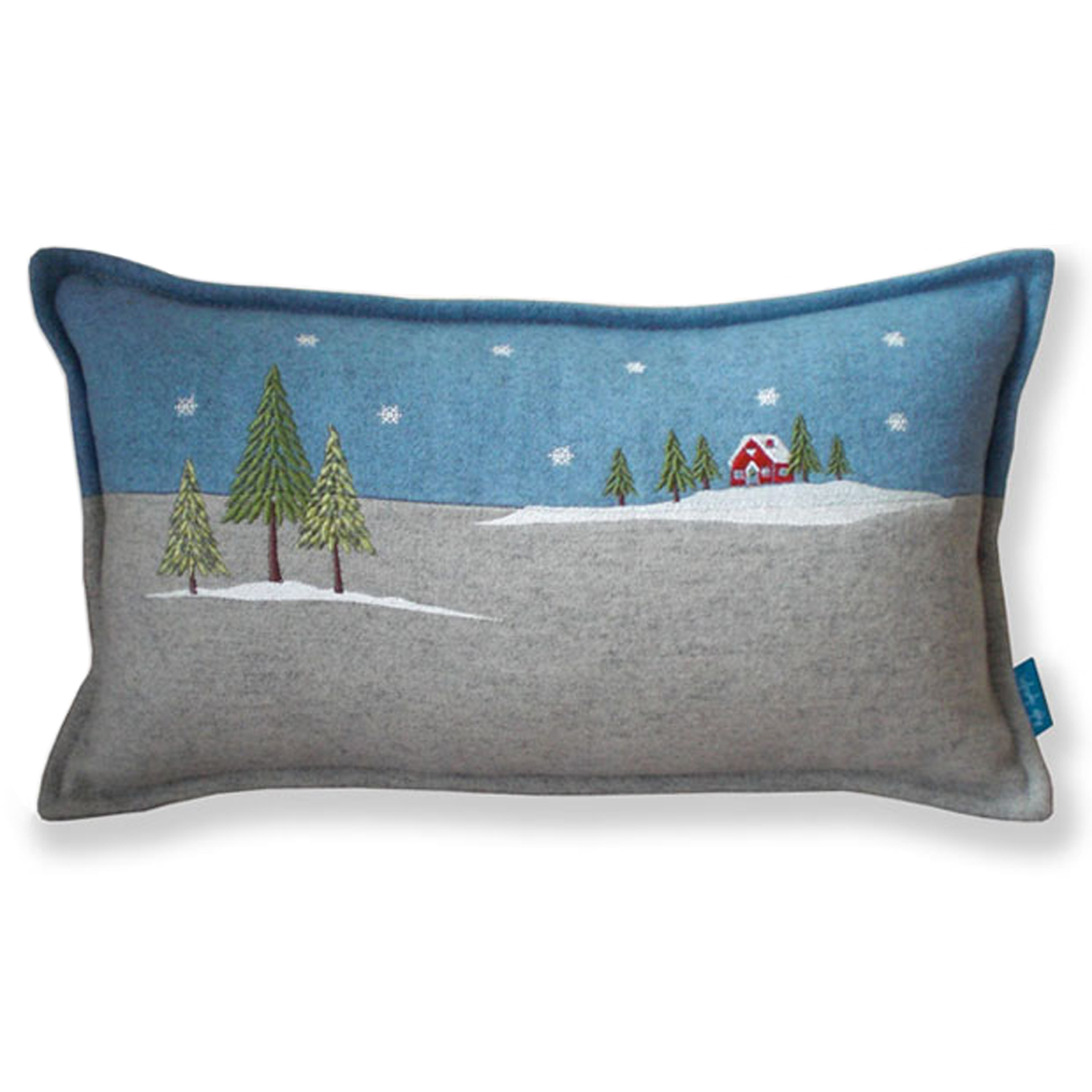 Christmas Cushion - Winter Lodge by Kate Sproston