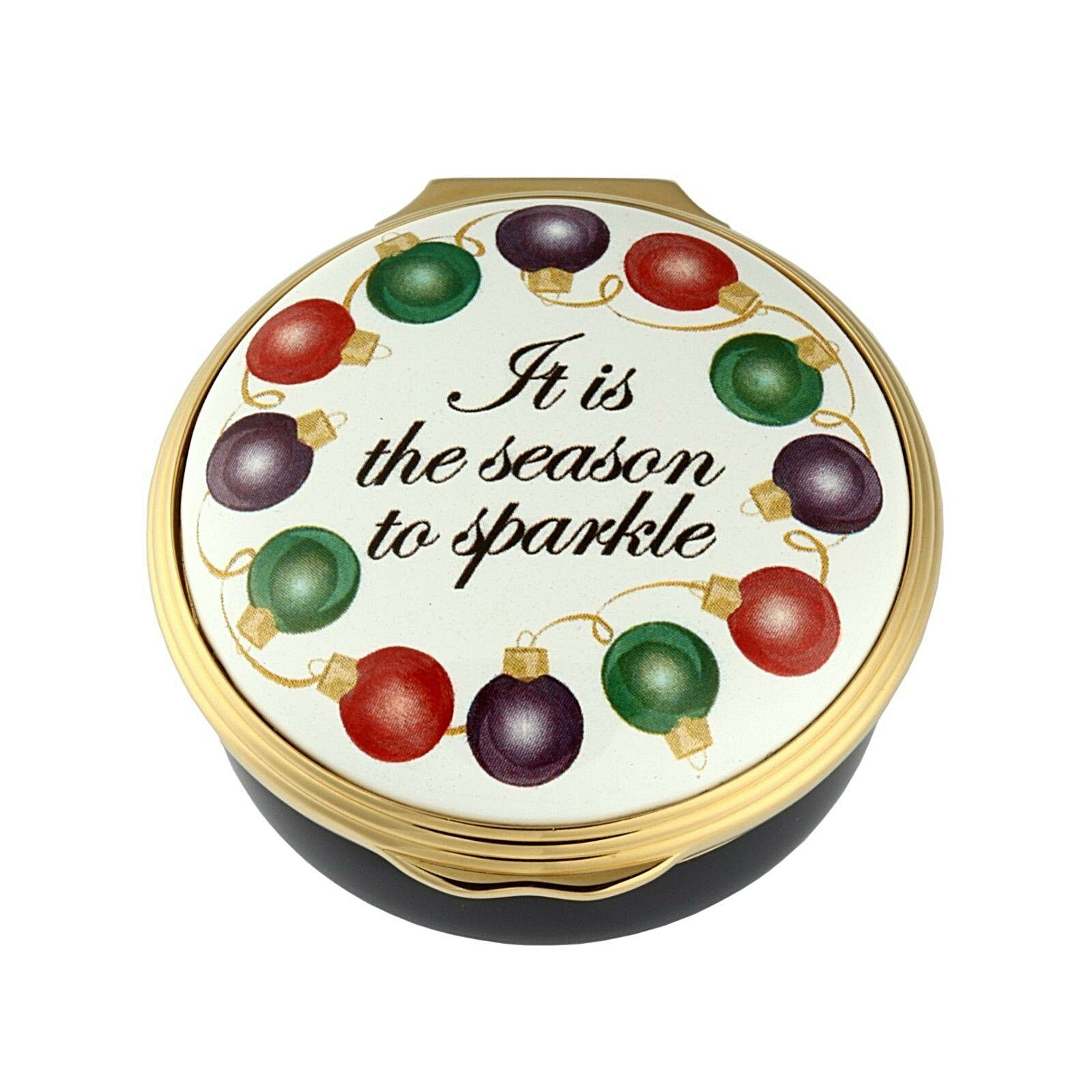 It's the Season to Sparkle Christmas Enamel Box by Halcyon Days