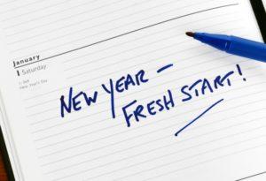 New Year Fresh Start Text