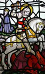 Stained Glass Window of St George and the Dragon