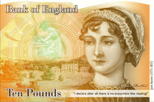 Image of the new Jane Austen £10 Bank Note