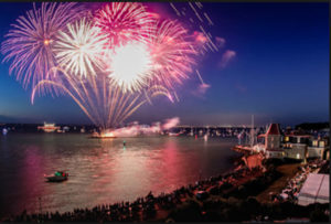 Fireworks at the end of Cowes Week