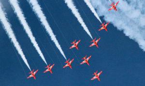 The Red Arrows Display Team at Cowes Week