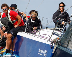 Yacht Crew on Board at Cowes Week