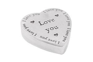 Love You Heart Pewter Trinket Box