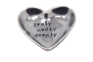 Truly Madly Deeply Heart Pewter Trinket Dish