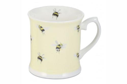 Bone China Bumble Bee Mug on Yellow by Mosney Mill