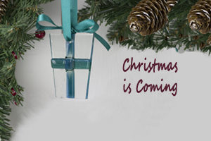 Christmas is coming with Jo Downs Glass Parcel Christmas Tree Decoration