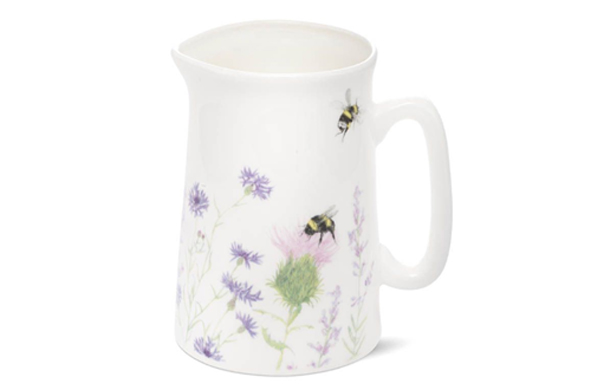 Bone China Jug with Bee and Flower Design by Mosney Mill