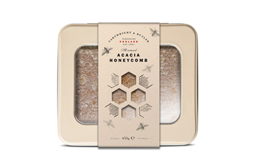 Acacia Honey Honeycomb in tin by Cartwright and Butler