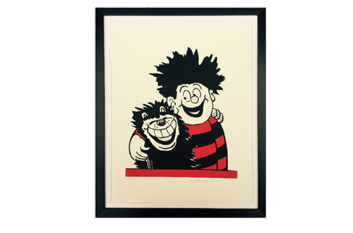 Dennis the Menace and Gnasher Hug Limited Print