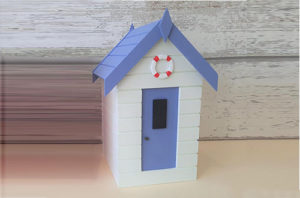 Beach Hut Container White and Lavender