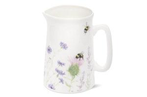 Bone China Bee and Flower Jug - Medium