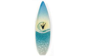 Glass Surfboard Clock - On the beach design