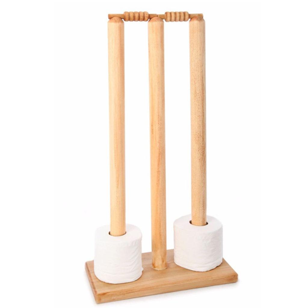 Cricket Stump Toilet Roll Holder